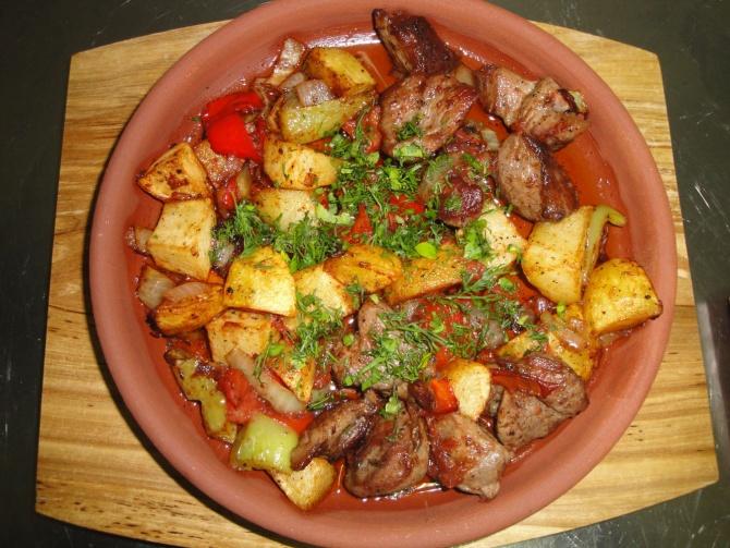 Грузинские блюда с картошкой